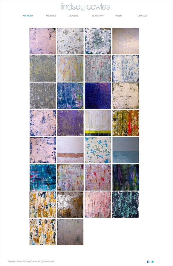 The artwork page for Lindsay Cowles, contemporary artist.