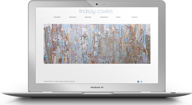 The homepage for Lindsay Cowles, contemporary artist.
