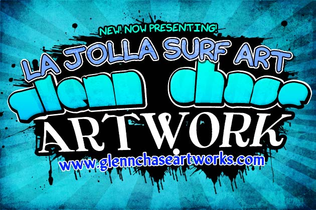 High Quality Graphic Flier for Surf Artist Glenn Chase.