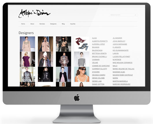 Website for Alexis Dizon, built on WordPress CMS