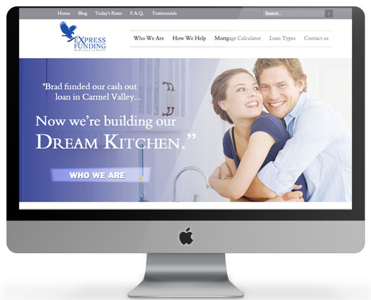 WordPress website for Express Funding  Mortgage Company.