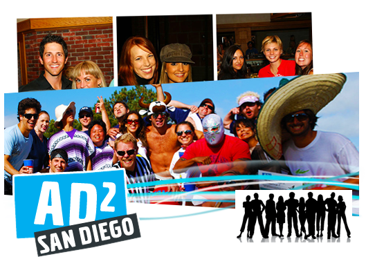 Website for AD2 San Diego, built on Wordpress CMS