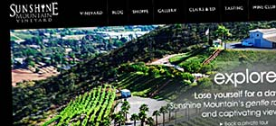 WordPress Design for Sunshine Mountain Vineyard