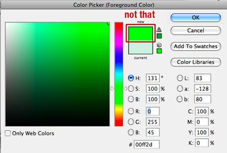 Colors not to use with WordPress website design.