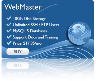 Webmaster Hosting Package