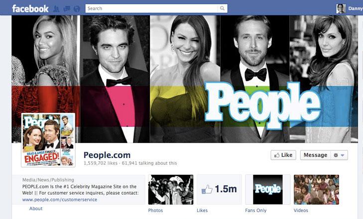 Facebook timeline image for People Magazine.