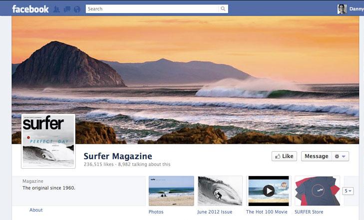 Facebook timeline image for Surfer Magazine.