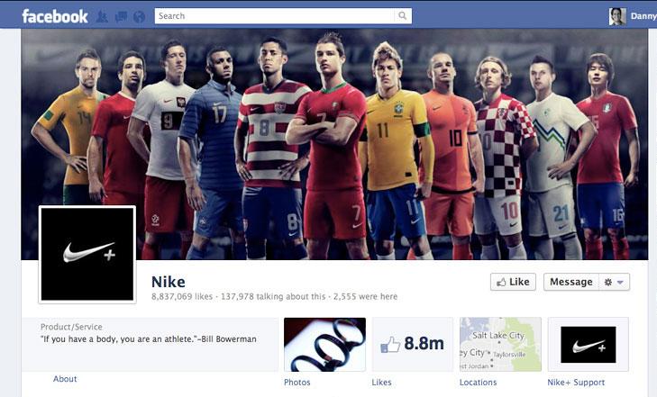 Facebook timeline image for Nike.
