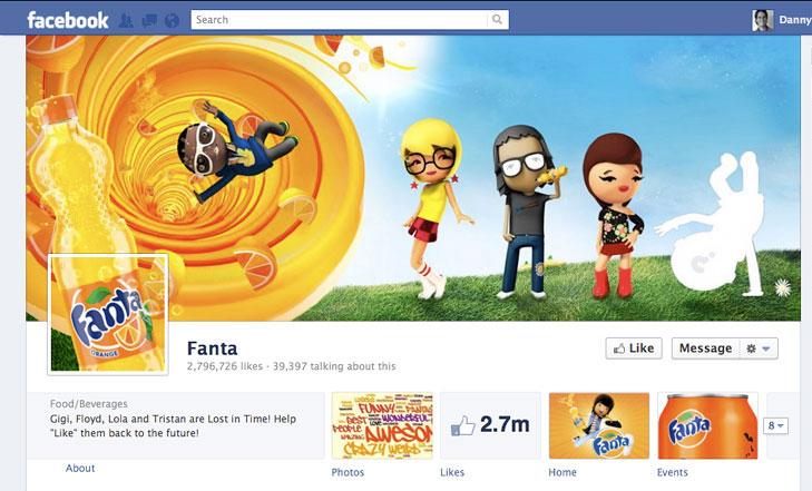Facebook timeline image for Fanta.