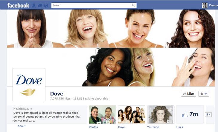 Facebook timeline image for Dove Bodywash.