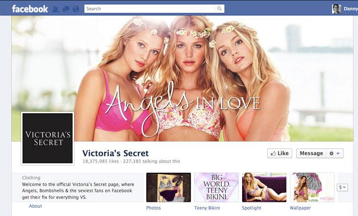 Facebook timeline image for Victoria's Secret.