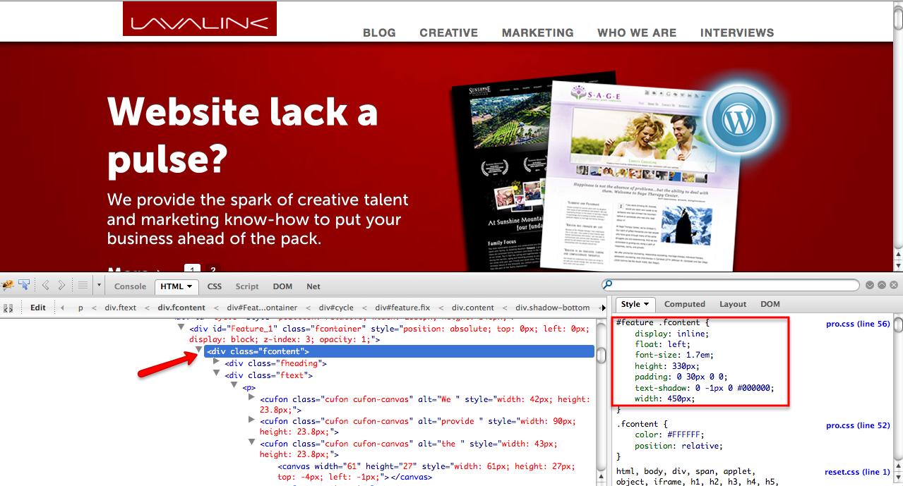 Using Firebug to become a web designer.