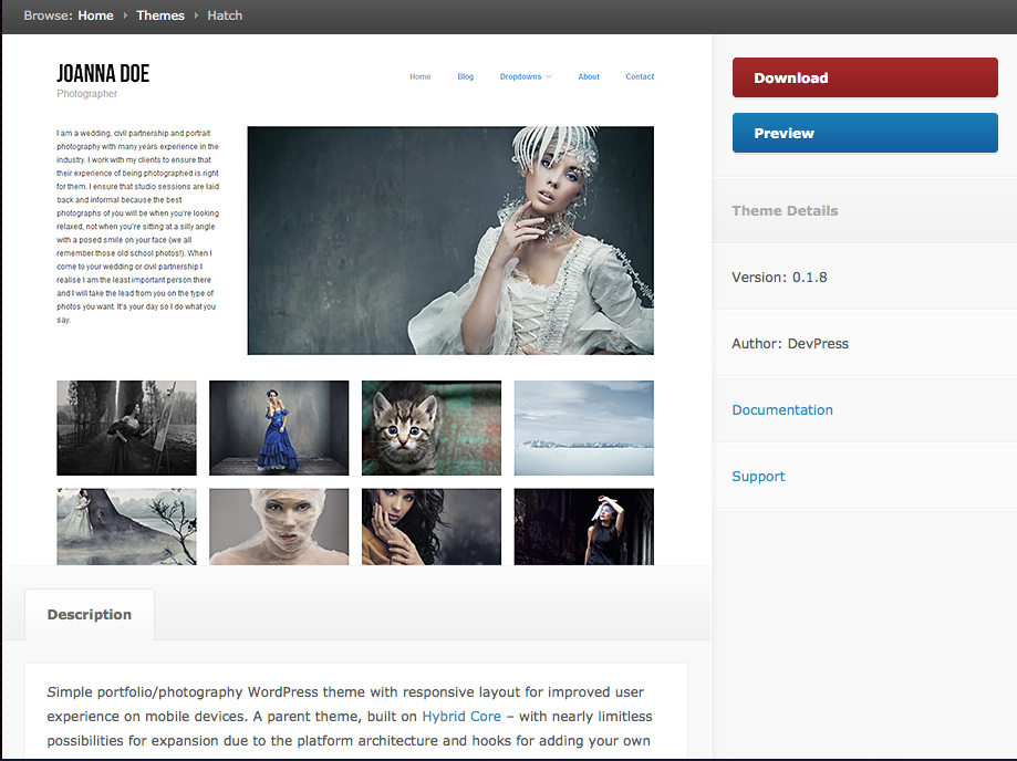 Free theme for WordPress.