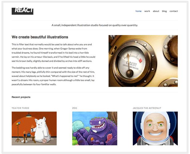 React theme for WordPress.