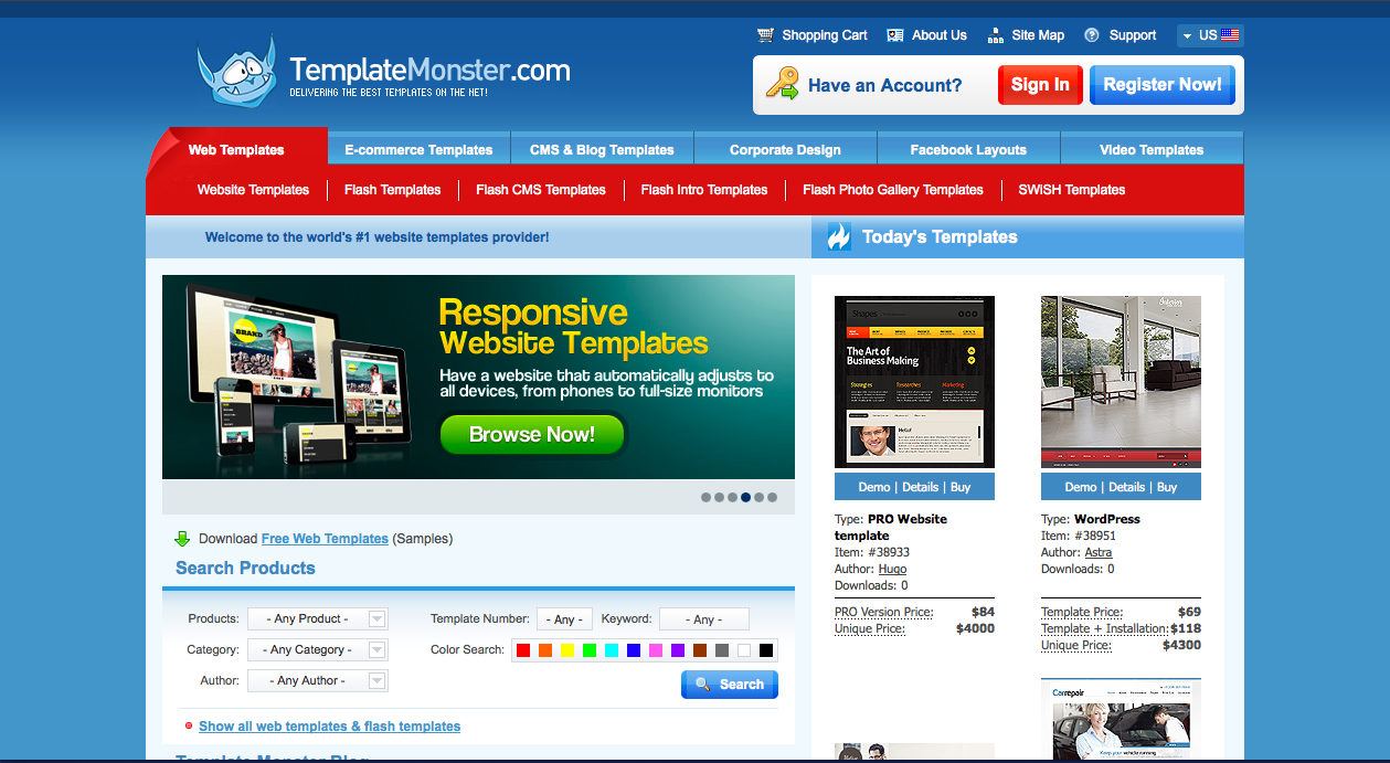 Professional web design templates for download.