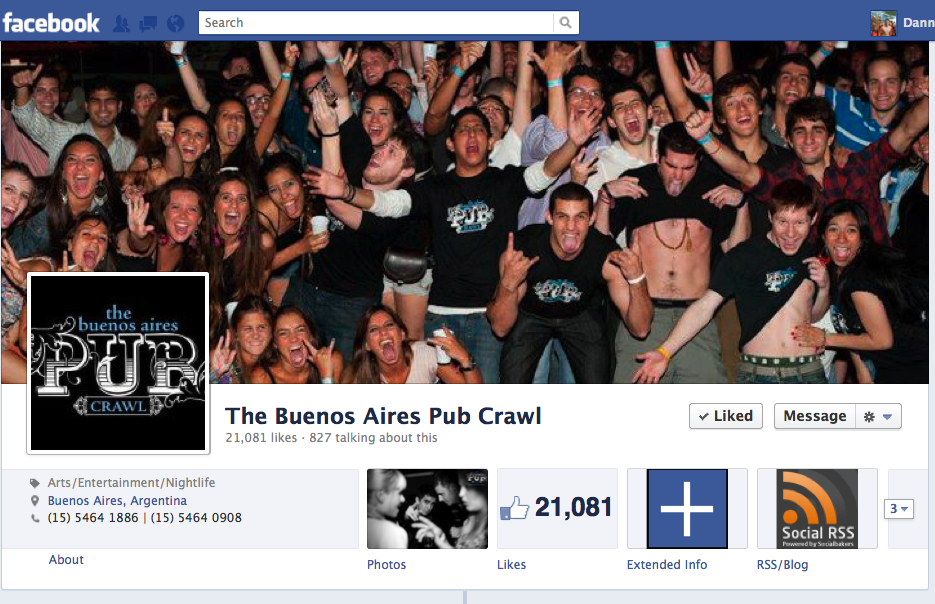 The Buenos Aires Pub Crawl, a total party experience.