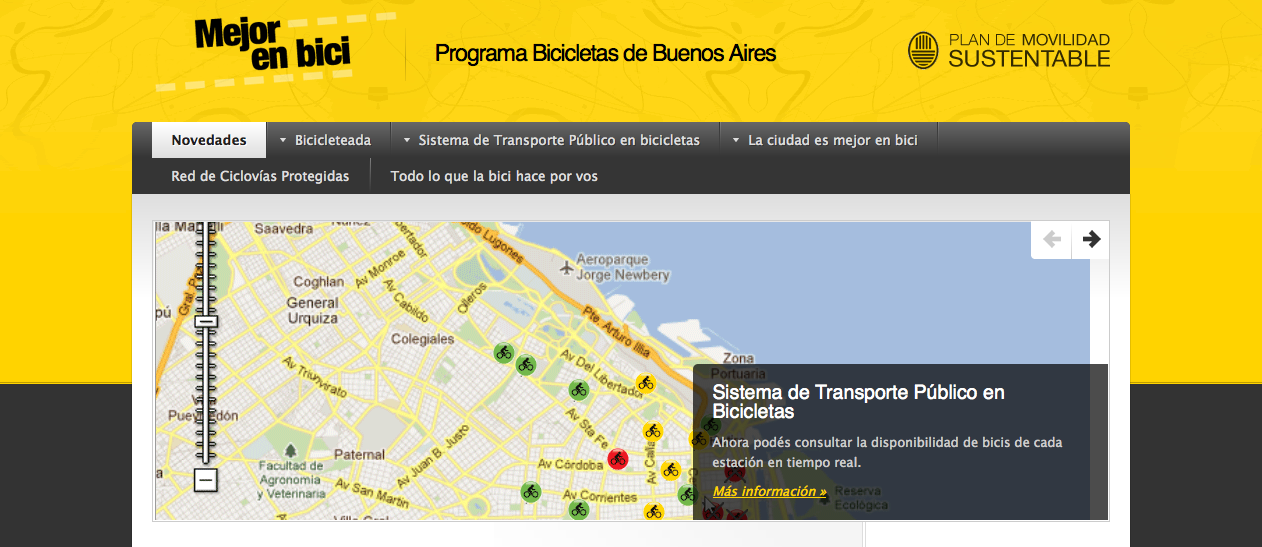 Mejor en Bici, a bikeshare program for transportation in Buenos Aires.