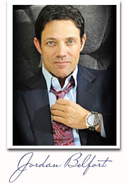 Jordan Belfort, the wolf of wall steet sales guru.